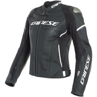 Dainese Racing 3 D-air® Lady Leather Jacket White