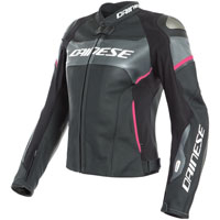 Dainese Racing 3 D-air® Lady Leather Jacket Pink
