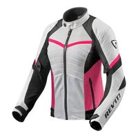 Blouson Pour Femme Rev'it Arc Air Blanc Rose