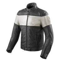 Rev'it Nova Vintage Leather Jacket Black White
