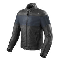 Rev'it Nova Vintage Leather Jacket Black Blue
