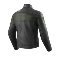 Rev'it Nova Vintage Leather Jacket Black Green