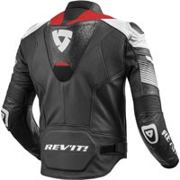 Rev'it Leather Jacket Spitfire White-red