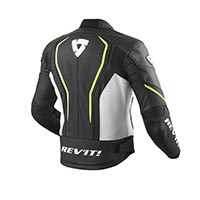 Rev'it Giacca Pelle Vertex Gt Nero Giallo Neon