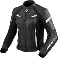 Rev'it Xena 2 Black And White Lady Leather Jacket
