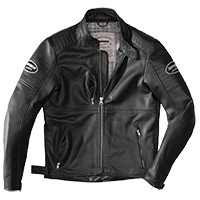 Spidi Clubber Leather Jacket Black