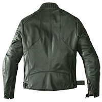 Spidi Clubber Leather Jacket Green Ice