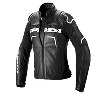 Spidi Evorider 2 Lady Leather Jacket Black White