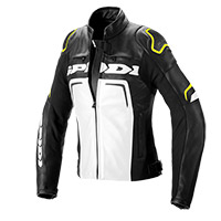 Spidi Evorider 2 Lady Leather Jacket Black Yellow