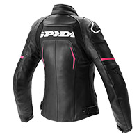 Spidi Evorider 2 Lady Leather Jacket Black Fuchsia