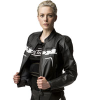 Spidi Evorider Leather Jacket Donna Nero Donna