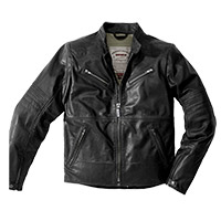 Spidi Garage Robust Leather Jacket Black