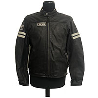 Spidi Vintage Leather Jacket Ice Black