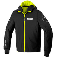 Spidi Hoodie Armor Evo Jacket Black Fluo Yellow