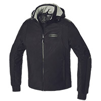 Chaqueta Spidi Hoodie Armor H2Out negro