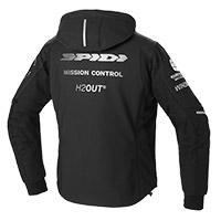 Giacca Spidi Hoodie Armor H2out Bianco Nero