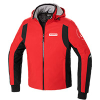 Spidi Hoodie Armor H2out Jacket Red