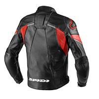 Spidi Ignite Leather Jacket Black Red