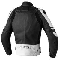 Spidi Track Warrior Leather Jacket Black White