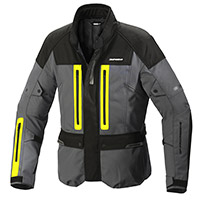 Blouson Spidi Traveler 3 H2out Gris Jaune