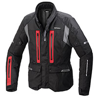 Blouson Spidi Traveler 3 H2out Noir Rouge