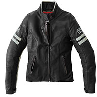 Spidi Vintage Lady Leather Jacket Ice Black