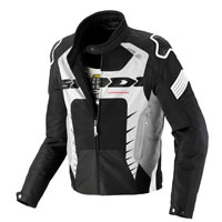 CHAQUETA SPIDI WARRIOR NET Negro Blanco