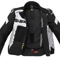 Spidi Warrior Net 2 Jacke schwarz weiß - 3