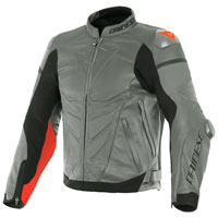 Dainese Super Race Perforated Lether Jacket Grey