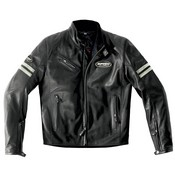Spidi Ace Leather Jacket Nero Bianco