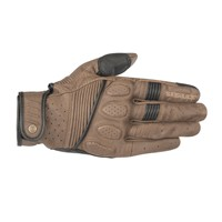 Alpinestars Crazy Eight Leather Gloves Brown Black