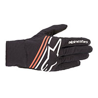 Alpinestars Reef Gloves Black White Fluo Red