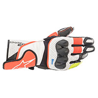 Alpinestars Sp-2 V3 Gloves White Red Fluo