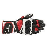 Alpinestars Sp-1 V2 Leather Gloves White Red