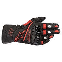 Alpinestars Twin Ring Leather Gloves Black Red