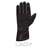 Guanto Clover Commander 3 Wp Lady Nero Donna