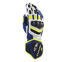 Gants Clover Rs-9 Race Replica Blanc Bleu Jaune
