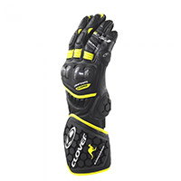 Guantes Clover RS-9 Race Replica negro amarillo