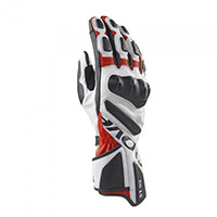 Clover St 02 Gloves White Red