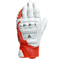 Dainese 4 Stroke 2 Gloves White Red