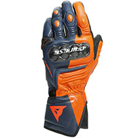 Dainese Carbon 3 Long Gloves Black Iris Orange