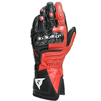 Dainese Carbon 3 Long Gloves Black Fluo Red
