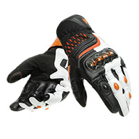 Gants Dainese Carbon 3 Short Blanc Orange