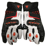Dainese Carbon 3 Short Gloves White Orange