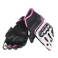 Dainese Carbon D1 Short Lady Gloves Fuchsia