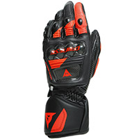 Dainese Druid 3 Gloves Black Fluo Red
