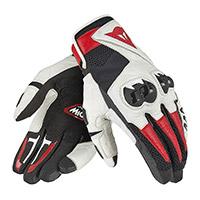 Dainese Mig C2 Gloves Black White Lava Red
