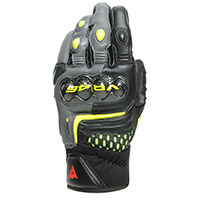 Dainese Vr46 Sector Short Gloves Yellow Fluo