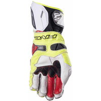 Five Rfx Race Gloves White Yellow