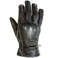 Helstons Basik Pull Up Leather Gloves Brown